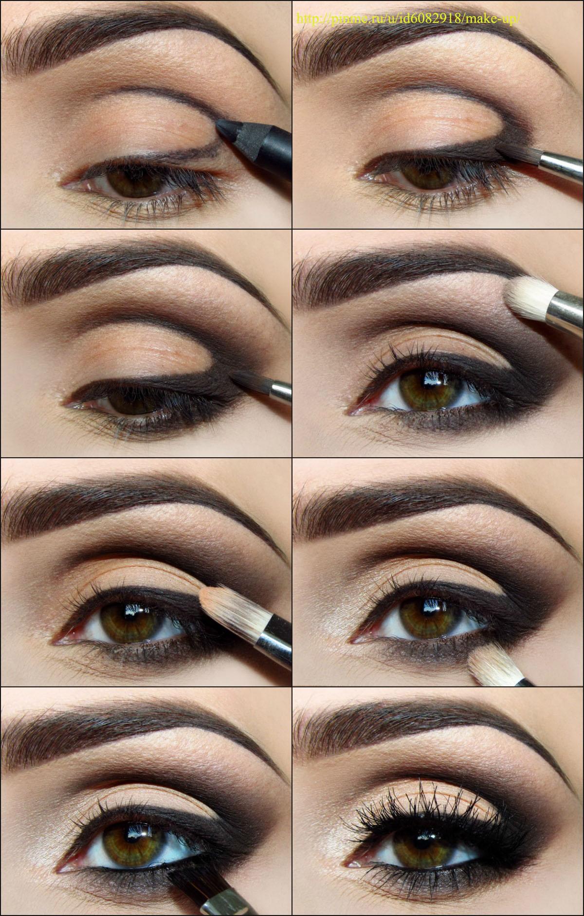 Вечерней макияж глаз