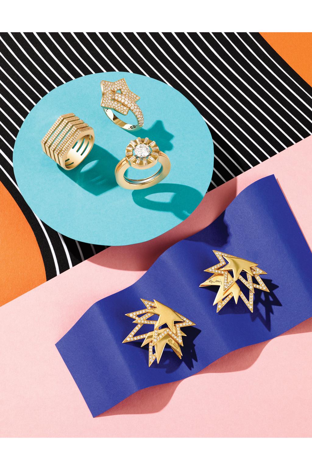 Модные украшения: кольцо в виде шайбы\ звезд.