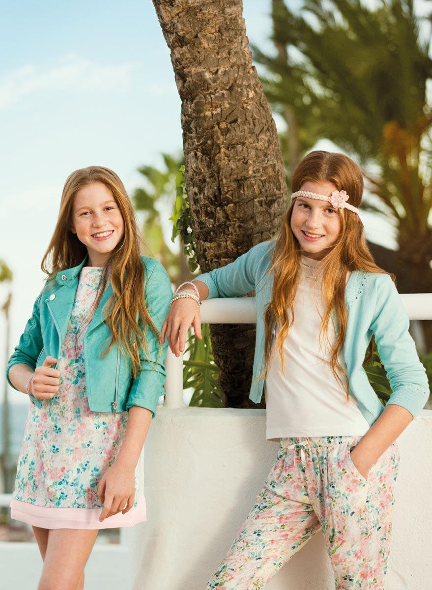 На фото: новая коллекция Mayoral для подростков - девочек.
