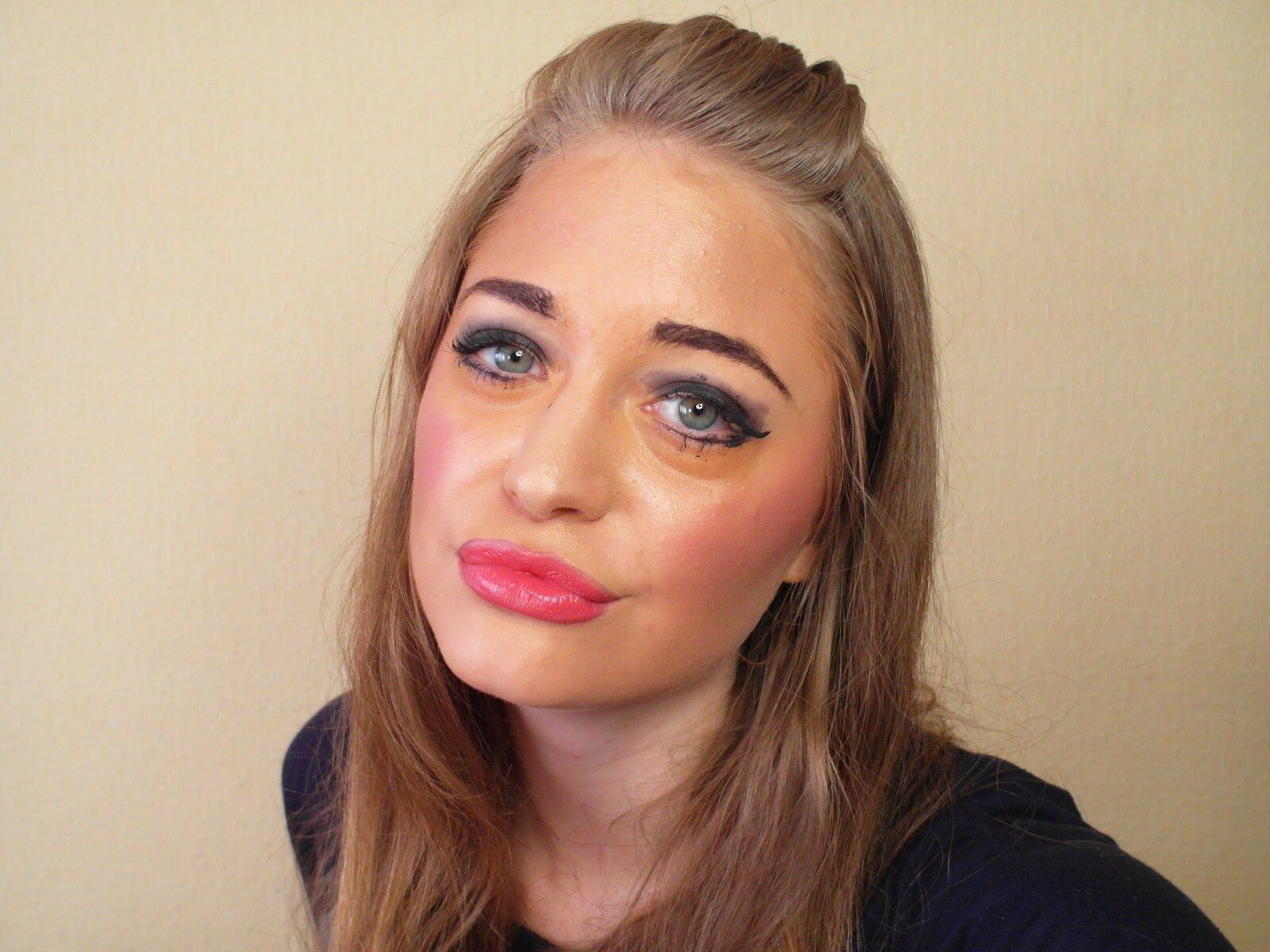 Ошибки в макияже, которые старят - слишком широкте брови.