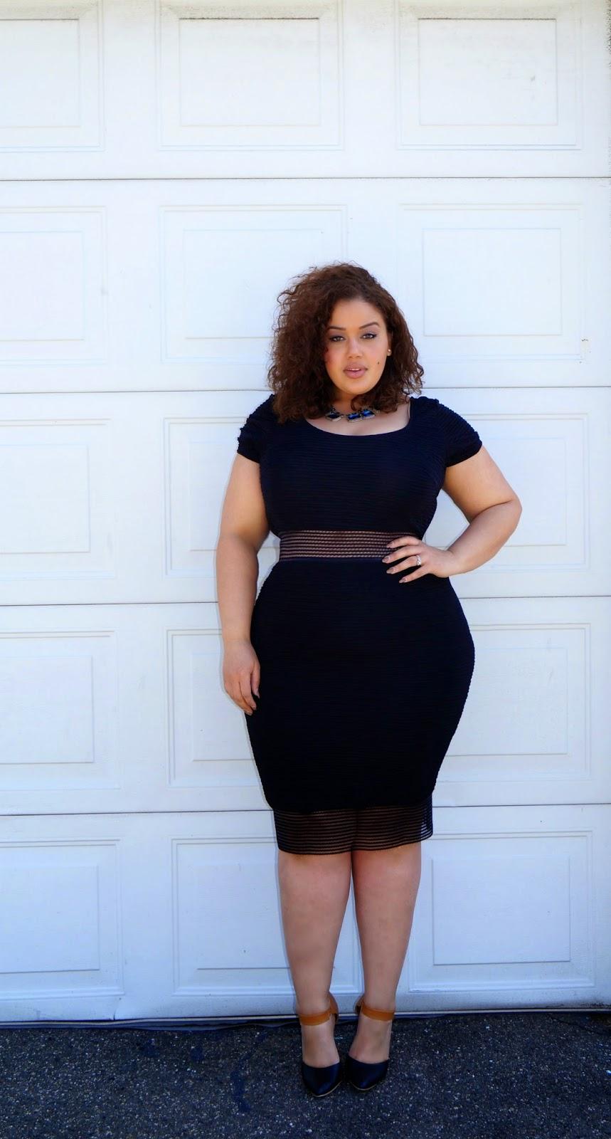 На фото: модный блоггер plus size Allie McGevna.