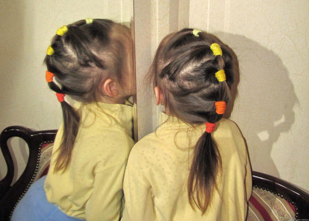 Прически из хвостиков для девочки