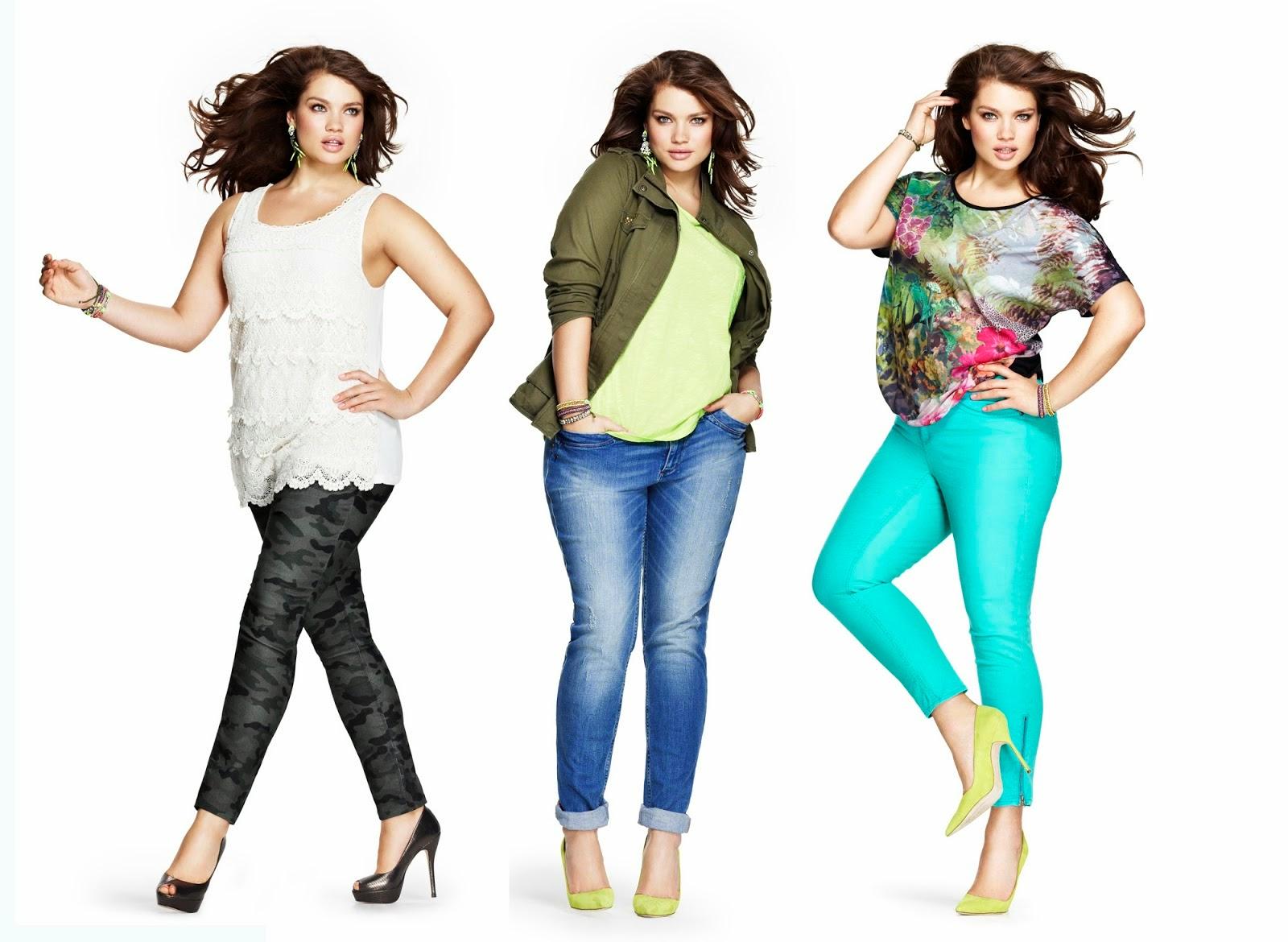 С чем носить джинсы полным девушкам фото