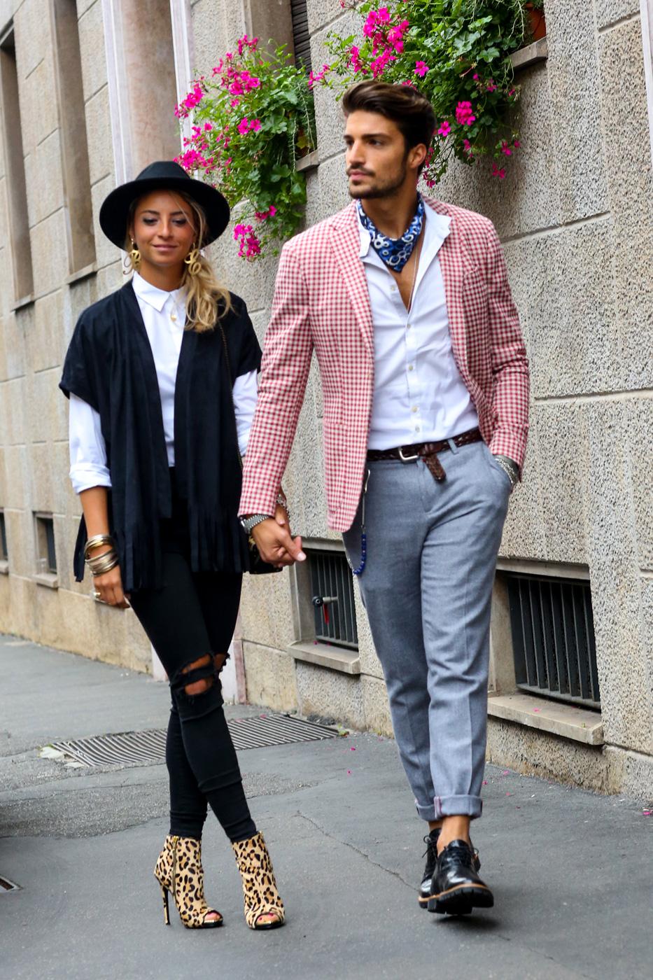 На фото: итальянский стиль одежды.