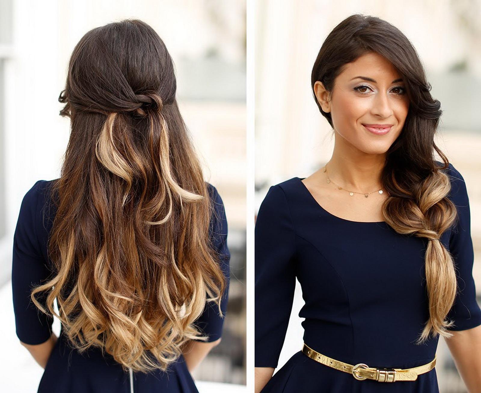 Фото стильных причесок на длинные волосы