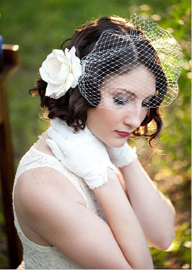 Фото коротких свадебных причесок