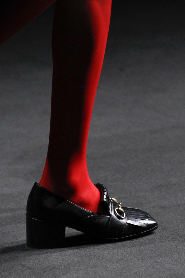 Модные туфли с квадратным каблуком – тренд осени и зимы 2016-2017 фотообзор из коллекции Gucci.