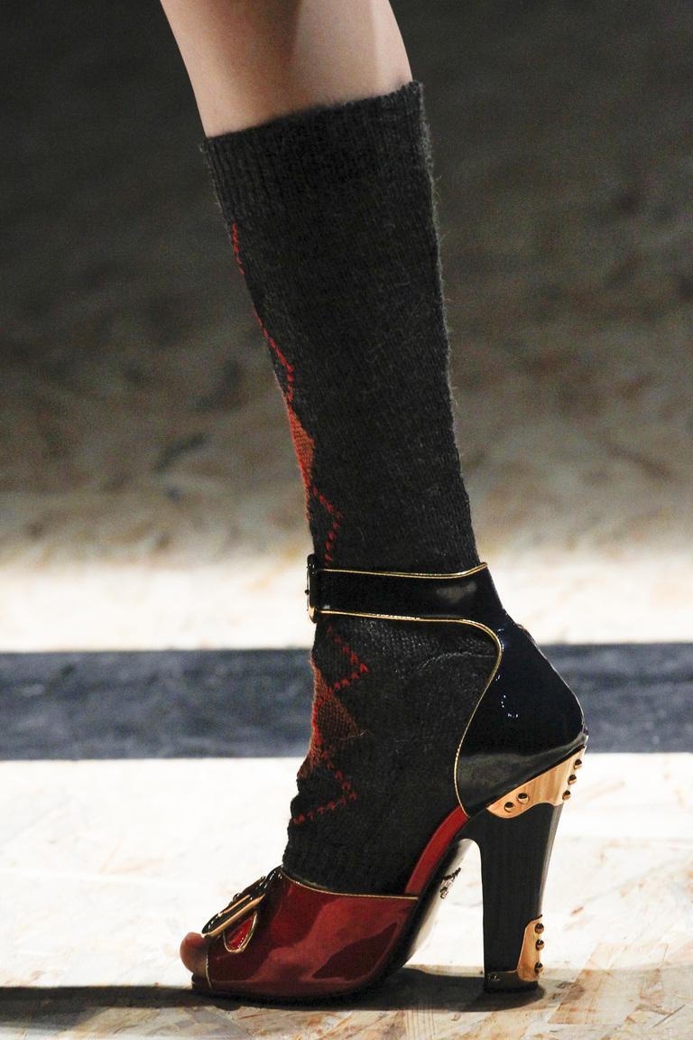 На фото: модные модели туфель сезона 2016-2017 из коллекции Prada.