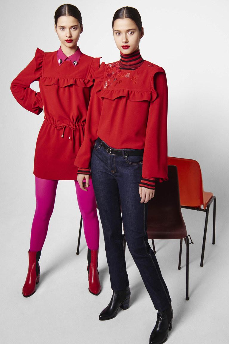 На фото: ярко-алый оттенок – модный цвет сезона осень-зима 2016-2017 из коллекции  Sonia-by-Sonia-Rykiel.