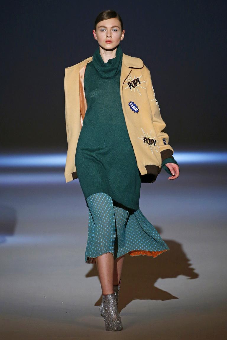 На фото: модный цвет одежды сезона осень-зима 2016-2017 из коллекции  Yuliya-Polishchuk.