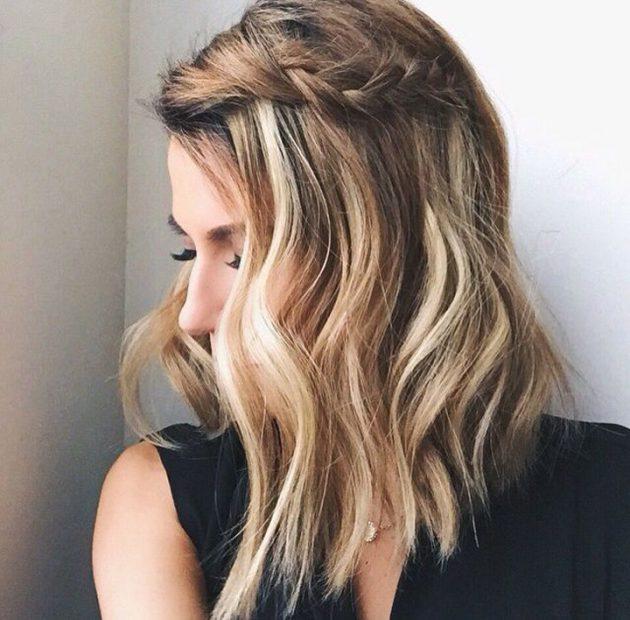причёски с косами фото на короткие волосы