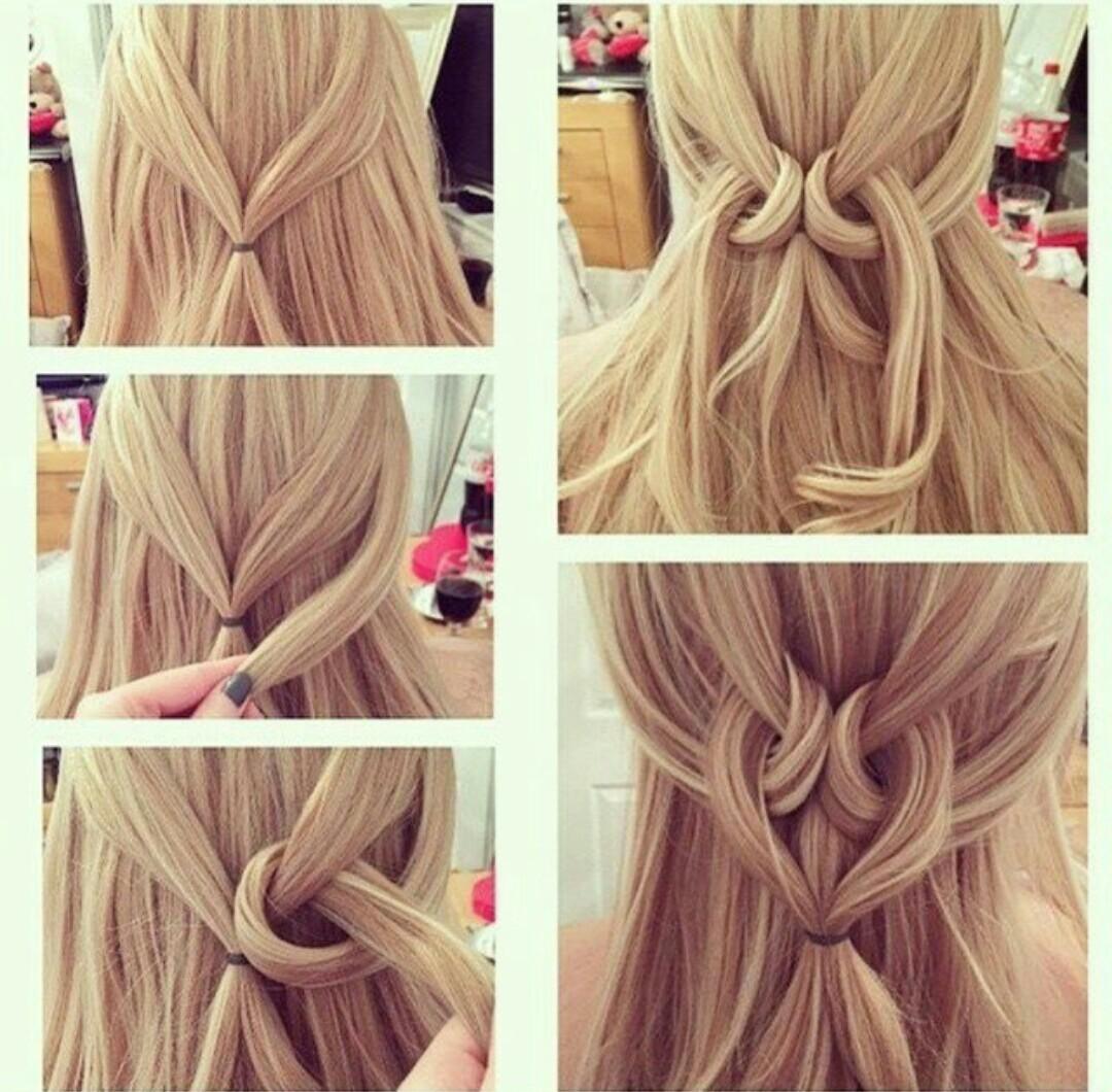 Красивая прическа на длинные волосы своими руками за 5 59