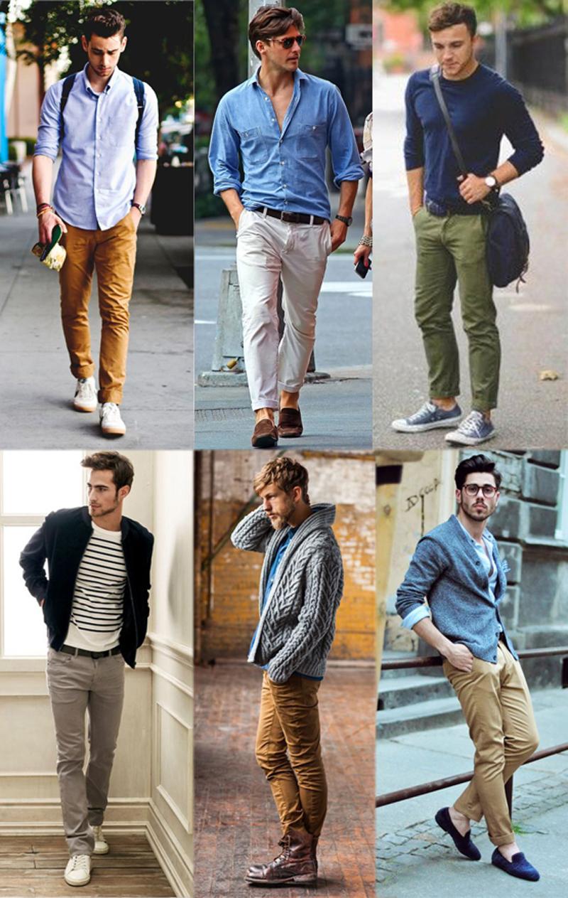 Брюки чиносы: с какой обувью носить