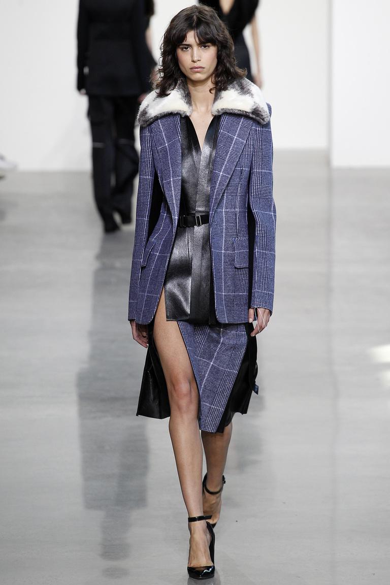 Модные юбки 2017 максимальной длины фотообзор коллекции Calvin-Klein.