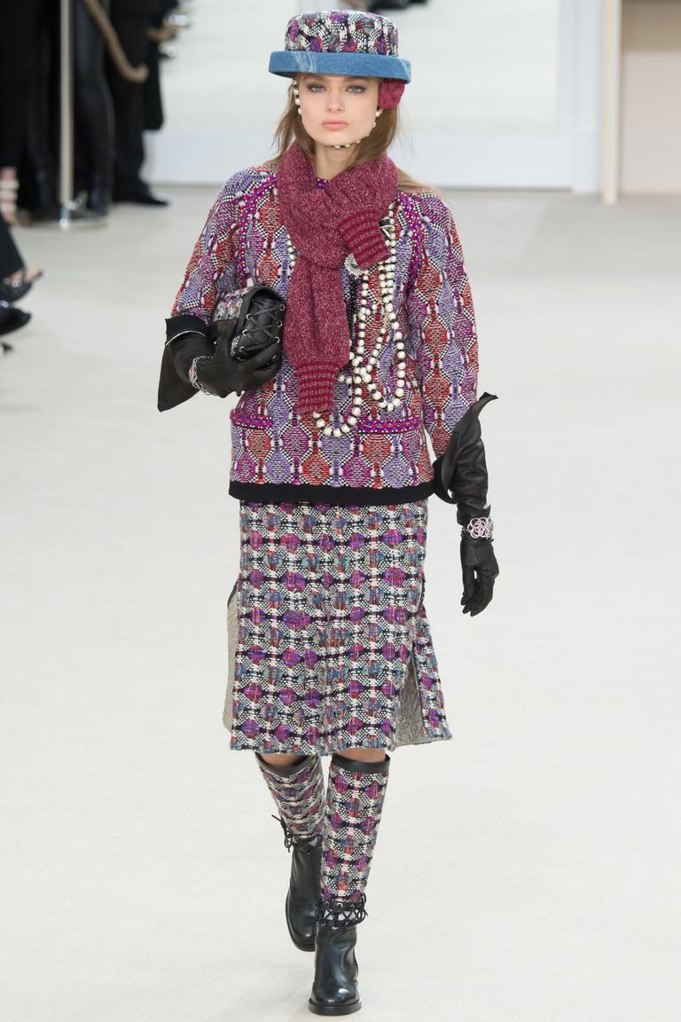 Модные юбки 2017 фотообзор коллекции Chanel.