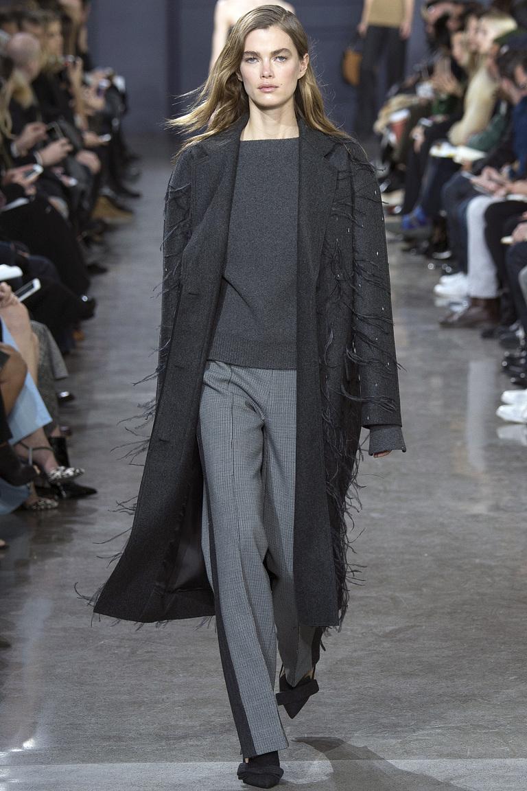 Серые модные брюки 2017 с полоской - фото новинки из коллекции Jason Wu