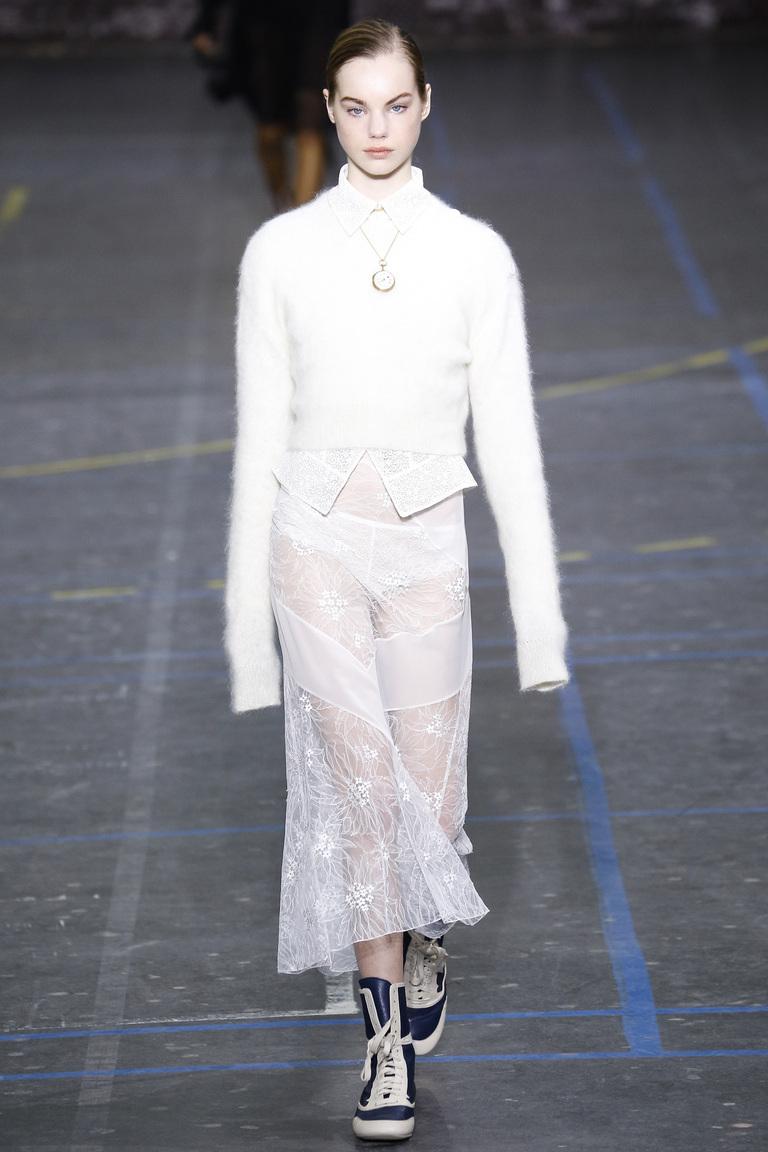 Прозрачные шифоновые юбки 2017 фотообзор коллекции John-Galliano.