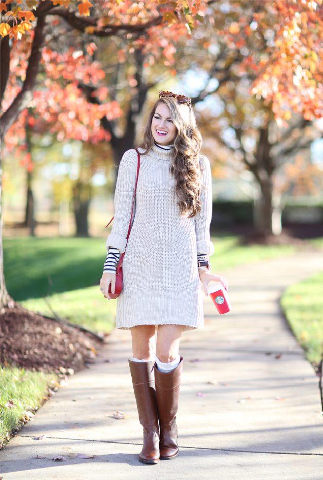 Платье-водолазка: 20 оригинальных и модных сочетаний этого сезона