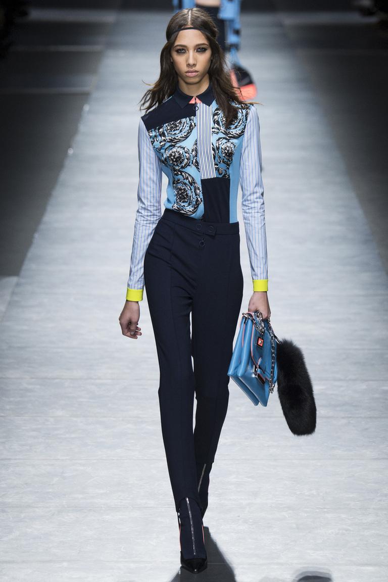 Модные брюки 2017 в деловом стиле из коллекции Versace