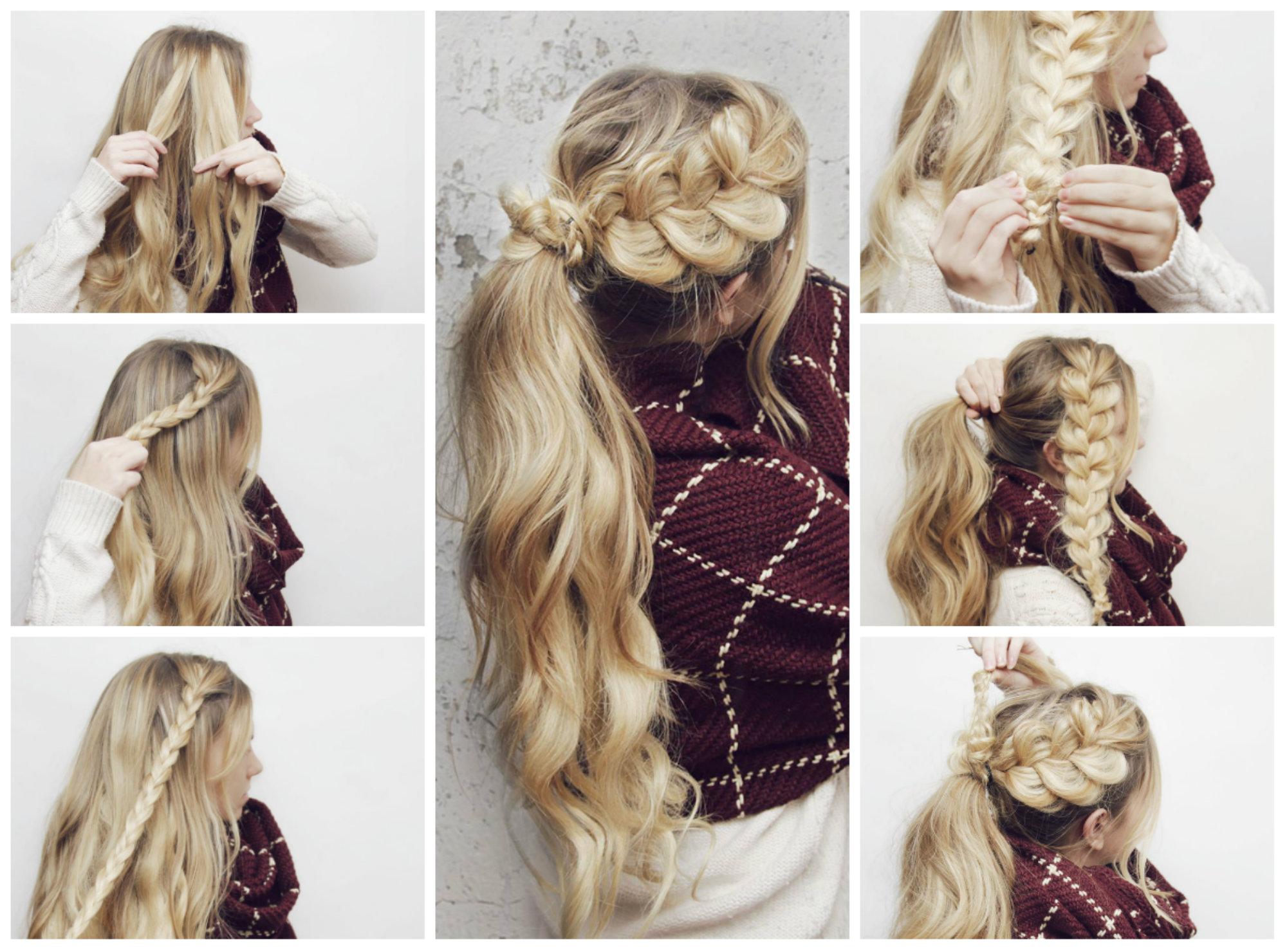 Плетите косы, чтобы скрыть седину.