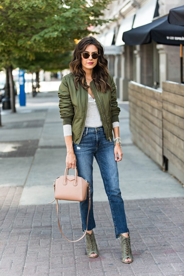 Куртка Бомбер – стиль уверенных в себе девушек