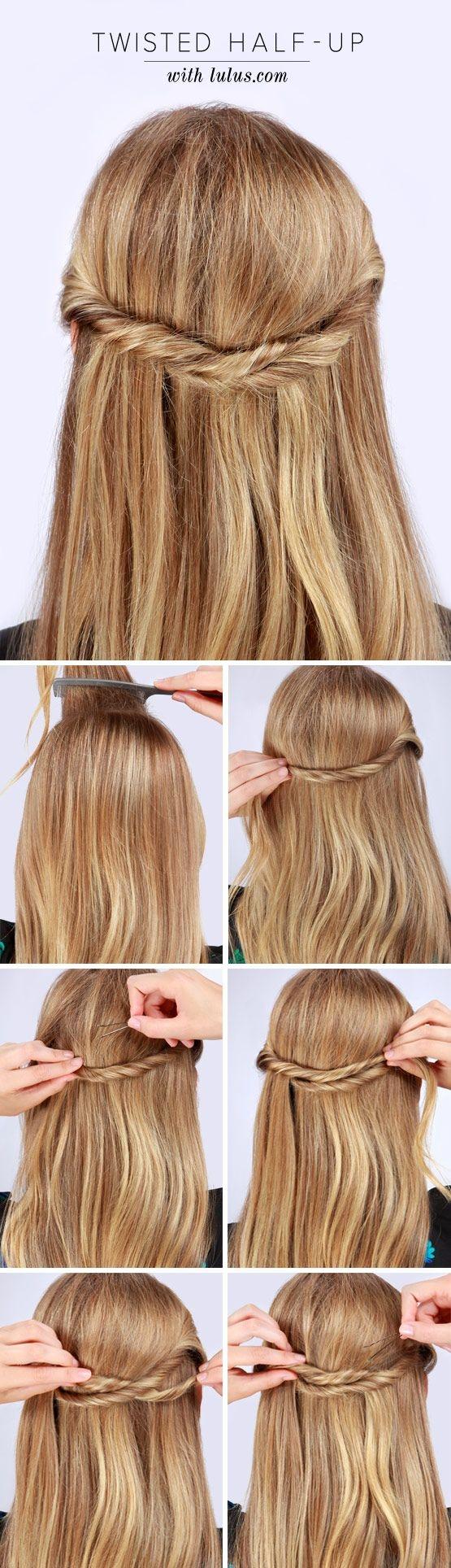 Вариант пятый – Полураспущенные волосы. Вариации – Half Updo