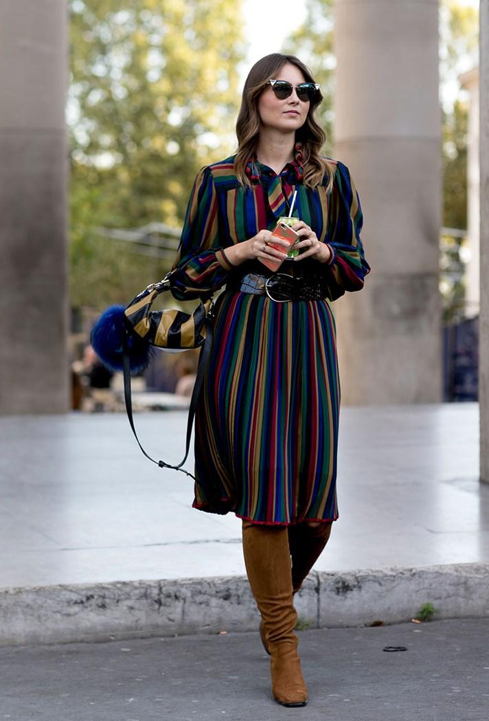 Фото: модное платье в полоску