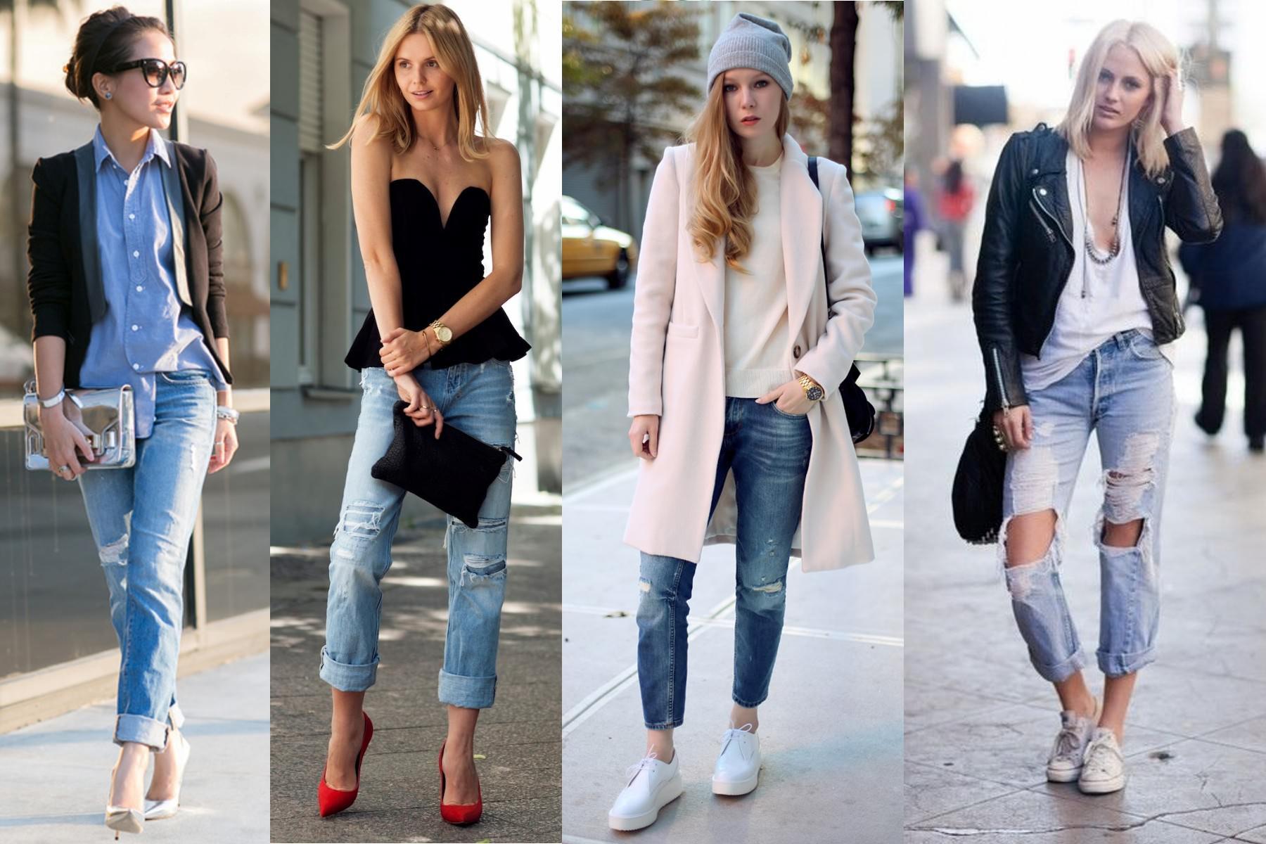 Смотрите, какими разными могут быть сочетания рваных джинсов в 2017 году.