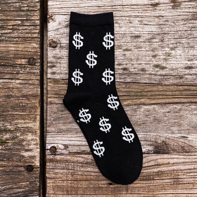Носки с изображением денег доллара