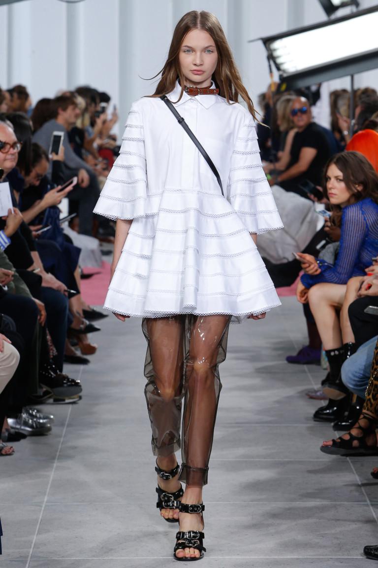 Романтичное модное короткое платье 2017 из коллекции Carven
