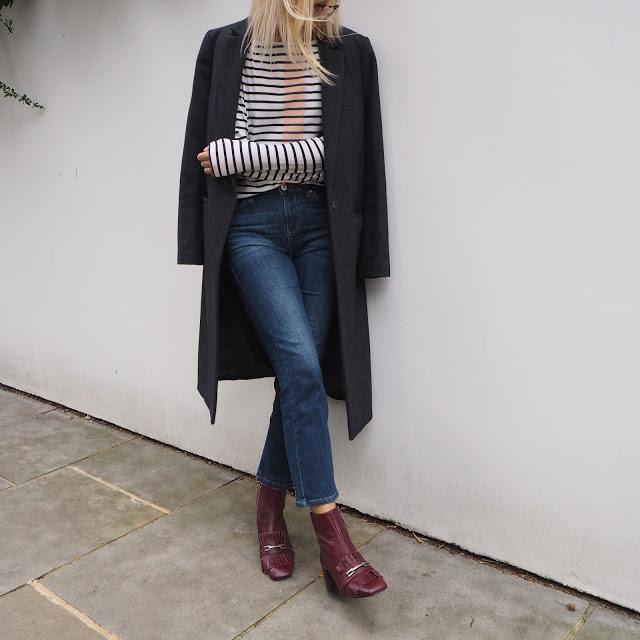Модный дуэт: пальто и джинсы