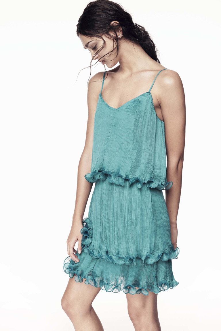 Нежное короткое платье бюстье 2017 из коллекции ZAC Zac Posen