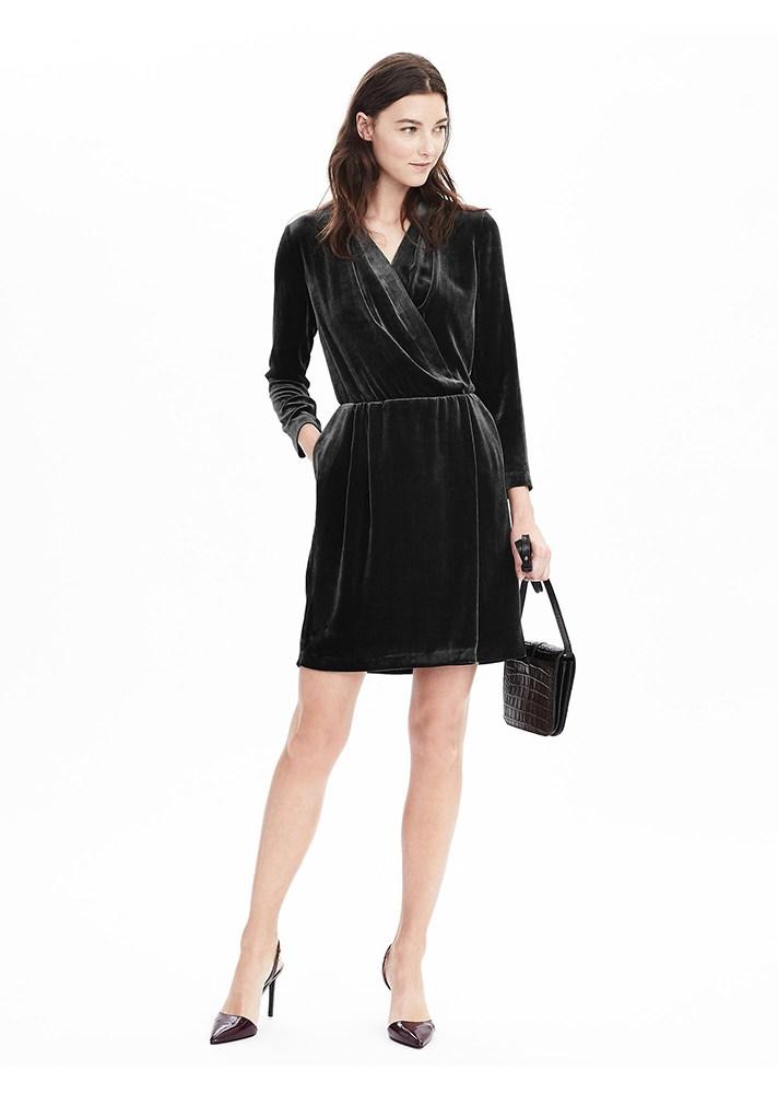Классическое модное бархатное платье 2017