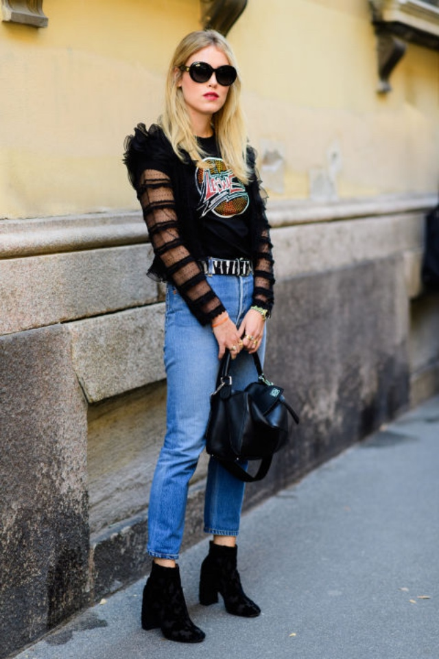 С какой обувью модно носить джинсы?