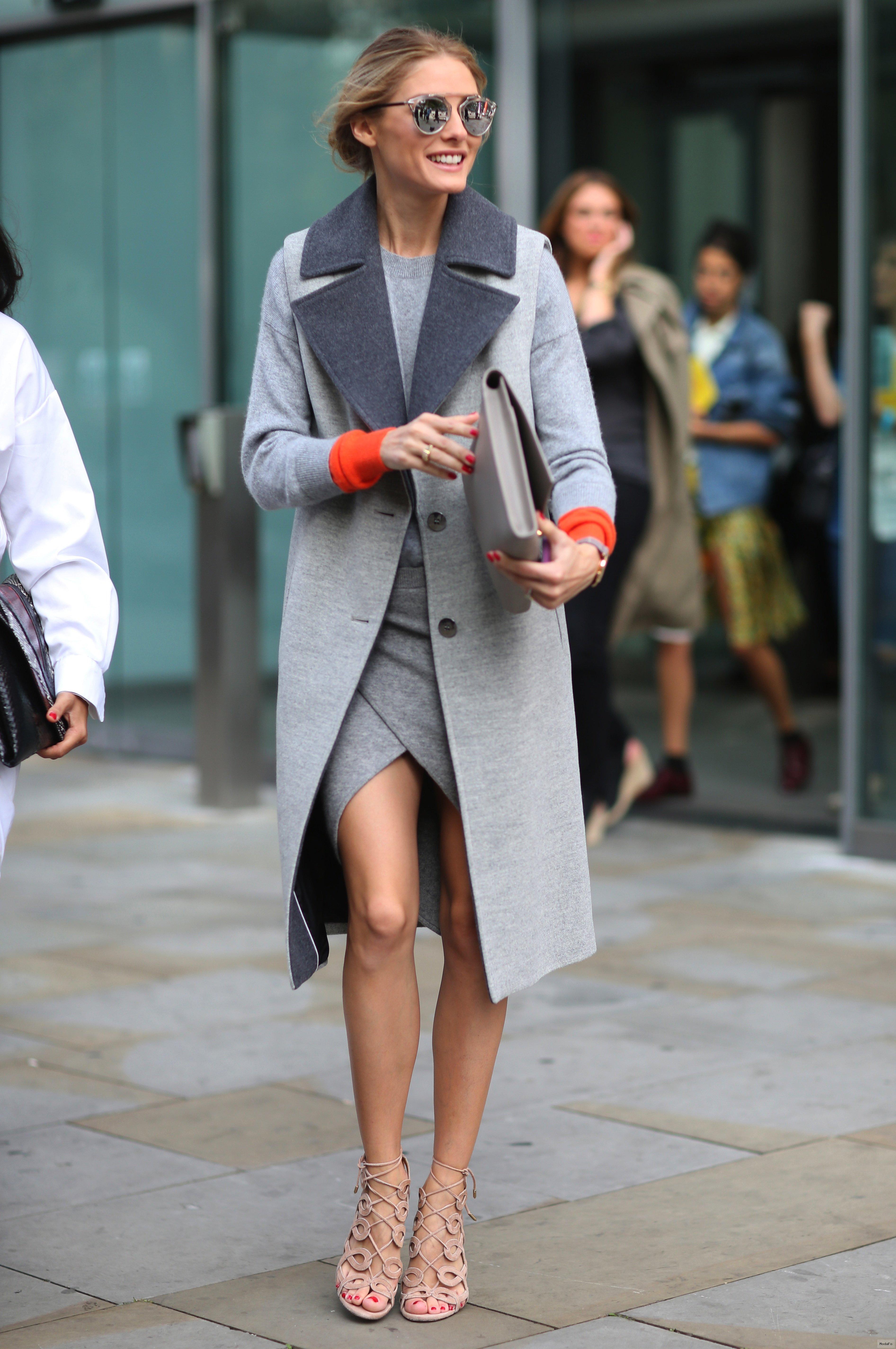 С чем носить серое пальто, если Вы романическая девушка
