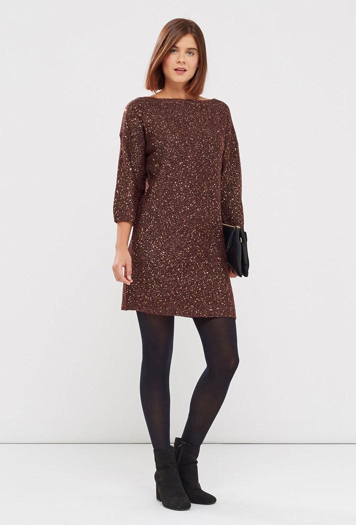 Блестящее короткое модное платье 2017