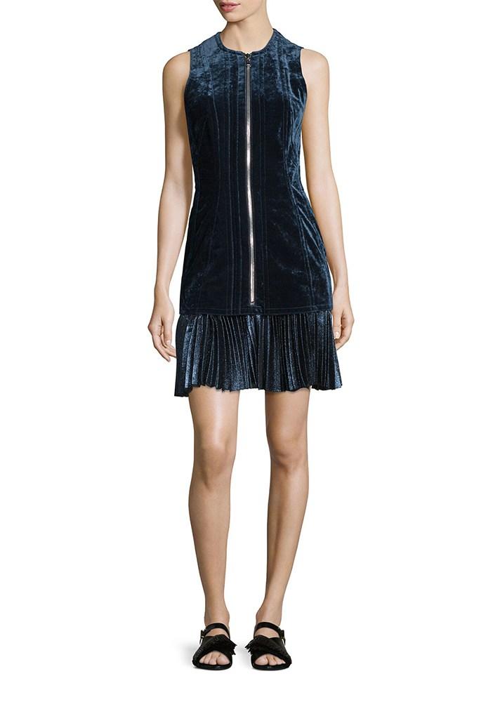Короткое черного цвета платье на молнии без рукавов из коллекции 3-1-phillip-lim.