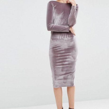 Платья из бархата: 30 модных фасонов