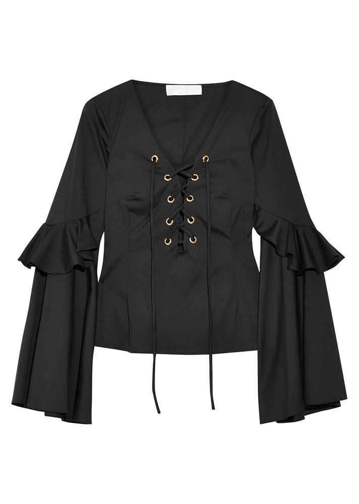 Блузка с двойными рукавами клеш - тренд сезона.