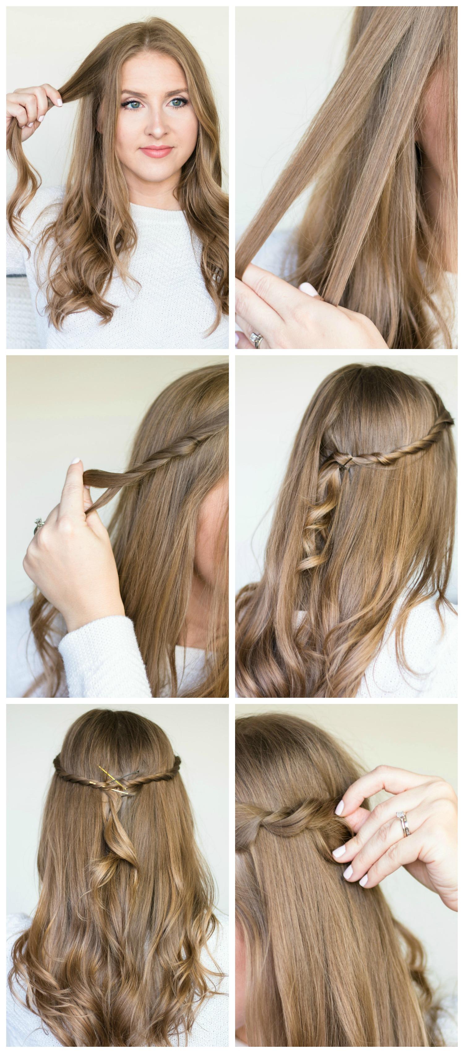 Простая и быстрая причёска с волосами средней длины фото прически