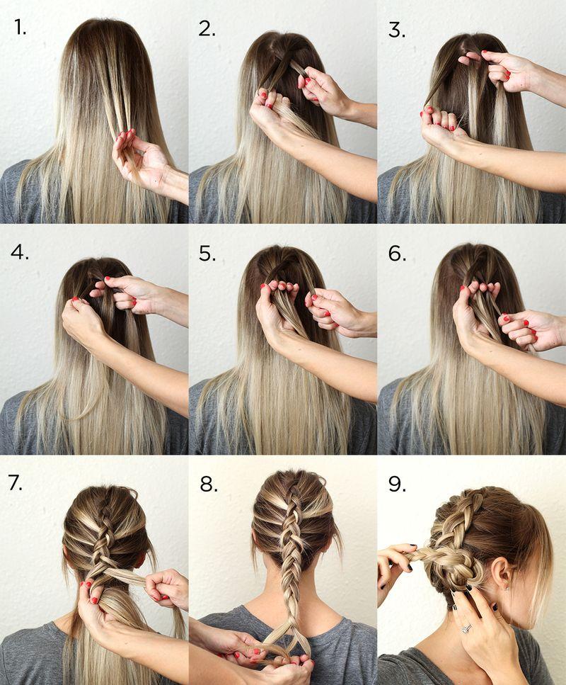 Красивая коса на длинные волосы пошаговое