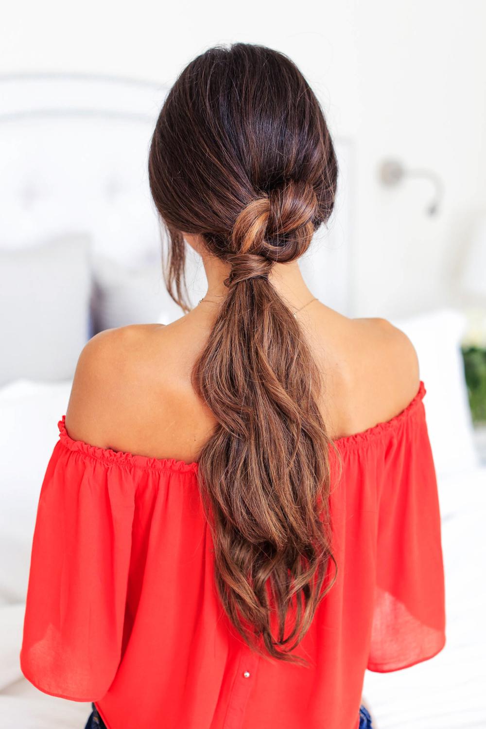 Как заколоть очень длинные волосы