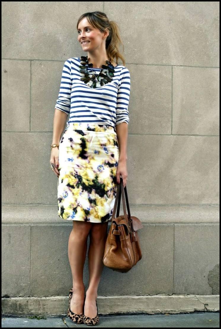 Цветная юбка и цветная кофта