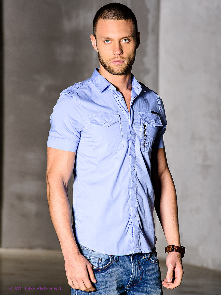 891cb1ab7ee4ee7 Мужская приталенная рубашка – фото новинка сезона Как сочетать приталенные  рубашки с джинсами