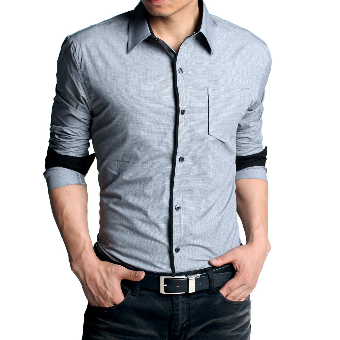 1503a6d99c0ae7a ... приталенные рубашки Фото новинки: приталенная мужская рубашка с джинсами