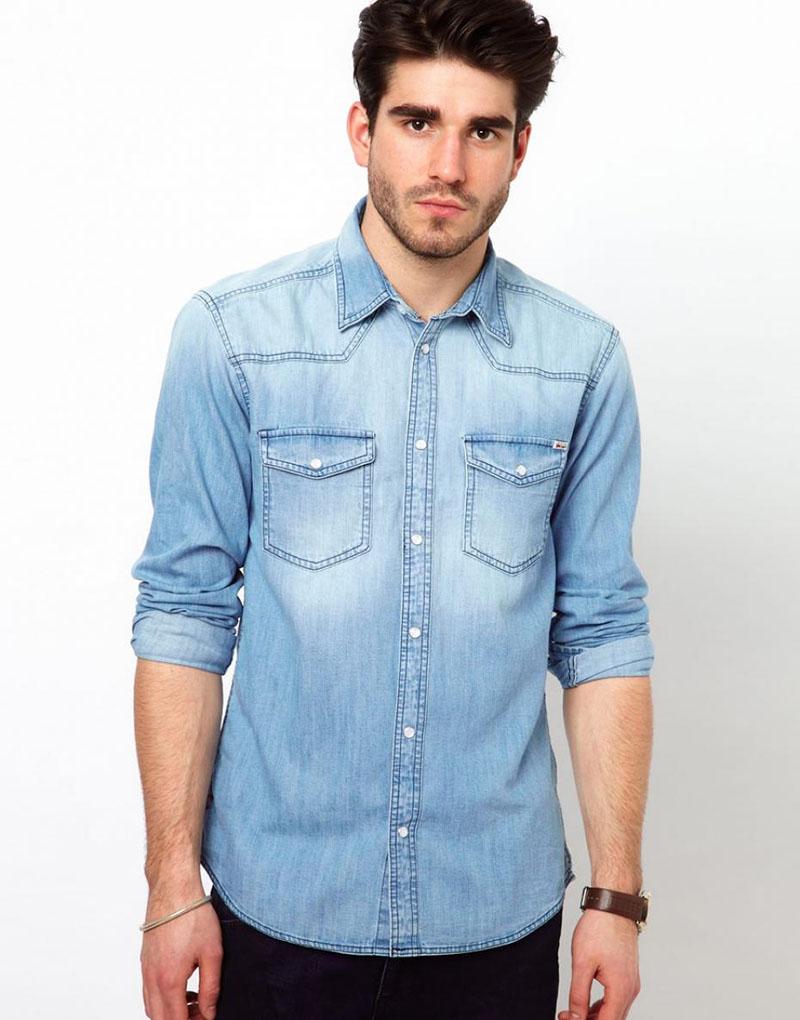 Модные джинсовые рубашки: 45 луков на фото | fashion-kingdom.