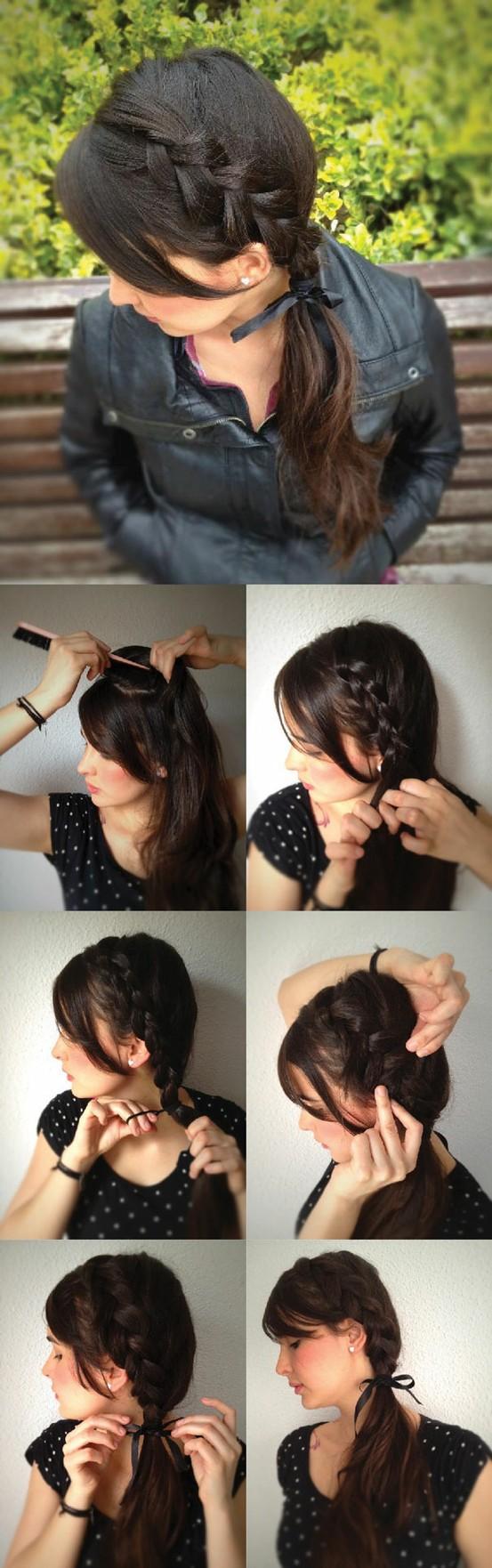 Простые прически на каждый день с модными косами