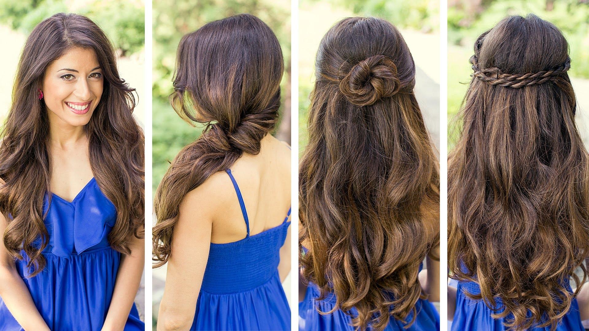 красивые прически распущенные на длинные волосы