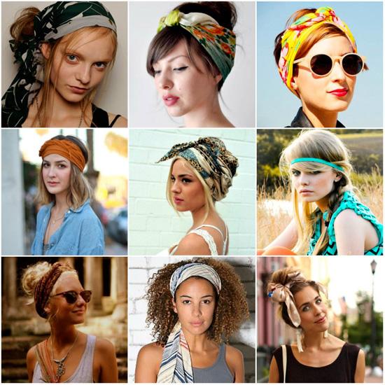 Варианты, как красиво завязать платок на голове
