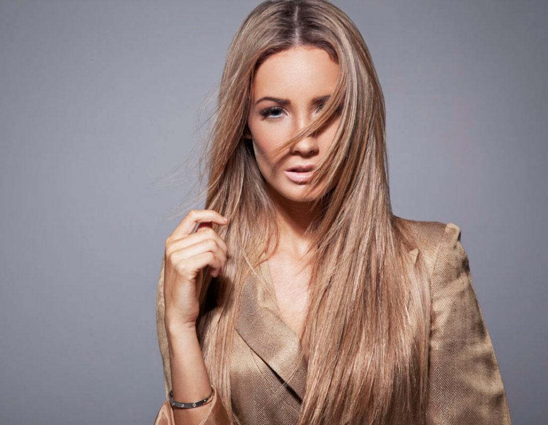 Прямые длинные волосы -каскад лесенкой